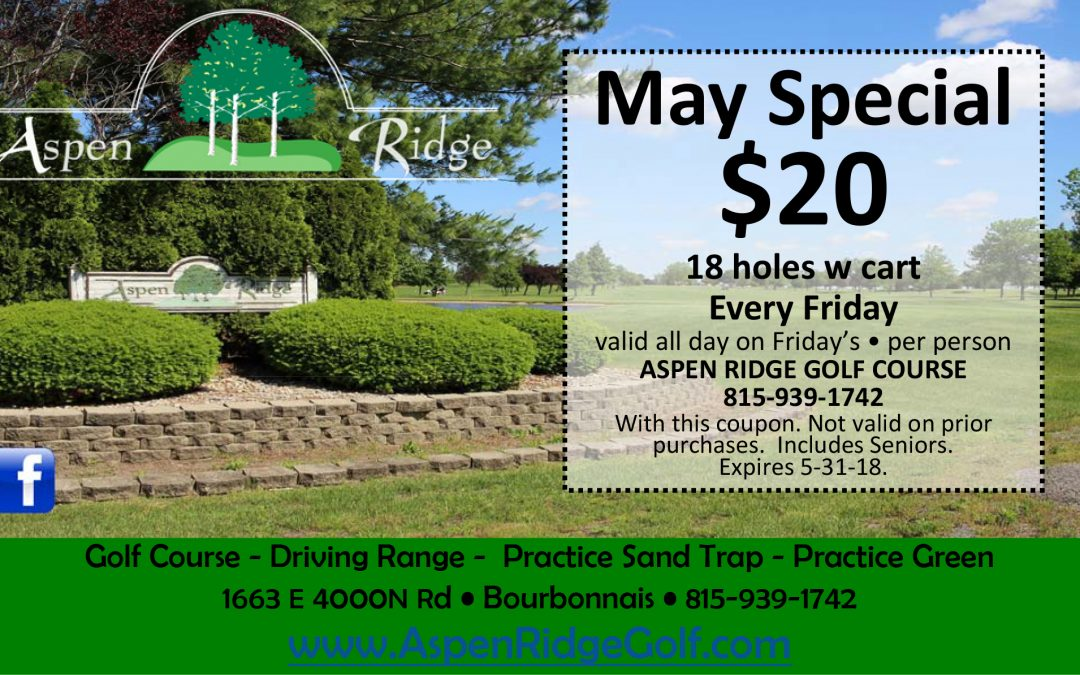 18 holes with cart for $20 on Fridays
